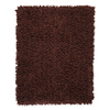 Anji Mountain Silky Shag 36-in x 60-in Rectangular Brown Accent Rug