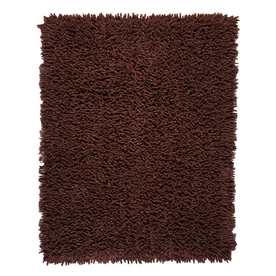 Anji Mountain Silky Shag Rectangular Brown Solid Area Rug (Common: 5-ft x 8-ft; Actual: 5-ft x 8-ft)