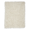 Anji Mountain Silky Shag Ivory Rectangular Indoor Shag Area Rug (Common: 5 x 8; Actual: 60-in W x 96-in L)