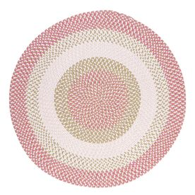 Colonial Mills Blokburst Round Multicolor Transitional Area Rug (Common: 6-ft x 6-ft; Actual: 6-ft x 6-ft)