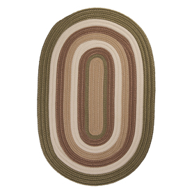 Colonial Mills Brooklyn Oval Multicolor Transitional Indoor/Outdoor Area Rug (Common: 8-ft x 11-ft; Actual: 8-ft x 11-ft)