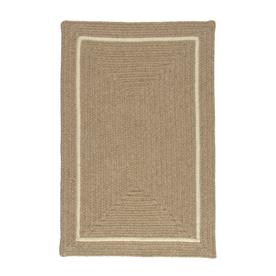Colonial Mills Shear Natural Rectangular Multicolor with Multicolor Border Wool Area Rug (Common: 5-ft x 8-ft; Actual: 5-ft x 8-ft)