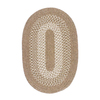Colonial Mills Jackson Taupe Oval Indoor Braided Throw Rug (Common: 2 x 4; Actual: 24-in W x 48-in L)