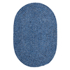 Colonial Mills Spring Meadow 24-in x 48-in Oval Blue Accent Rug