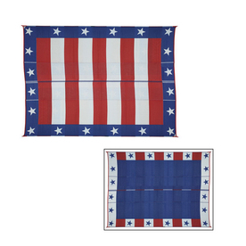 Patio Mats 144-in W x 108-in L Red and Blue Anti-Fatigue Mat