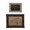 Patio Mats Horse Profile Rectangular Brown Animals Indoor/Outdoor Area Rug (Common: 9-ft x 12-ft; Actual: 9-ft x 12-ft)