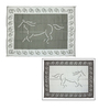 Patio Mats 144-in W x 108-in L Horse Black and Silver Anti-Fatigue Mat