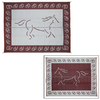 Patio Mats 144-in W x 108-in L Horse Burgundy Anti-Fatigue Mat