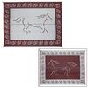Patio Mats Horse Rectangular Red Animals Indoor/Outdoor Area Rug (Common: 9-ft x 12-ft; Actual: 9-ft x 12-ft)