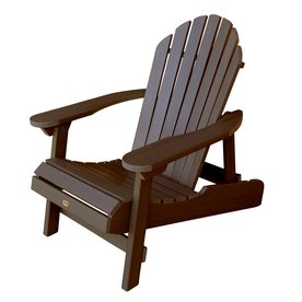 Highwood USA Hamilton Weathered Acorn Plastic Folding Adirondack Chair