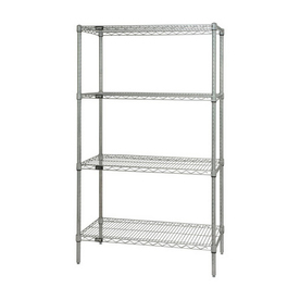 Quantum Storage Systems 54-in H x 36-in W x 18-in D 4-Tier Freestanding Shelving Unit