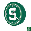 Sports Fan Products Michigan State Spartans Metal Encased Neon Clock
