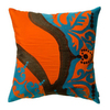 KOKO Company 18-in W x 18-in L Orange Square Accent Pillow