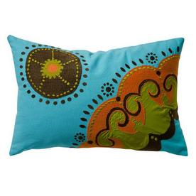 KOKO Company 20-in W x 13-in L Blue Rectangular Decorative Pillow