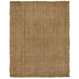 Anji Mountain Jute Rectangular Solid Jute Area Rug (Common: 10-ft x 14-ft; Actual: 10-ft x 14-ft)
