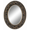 Imagination 31-in x 39-in Dark Gold Oval Framed Mirror