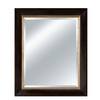 Imagination 29-in x 35-in Espresso Rectangular Framed Mirror