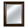 Imagination 30-in x 36-in Chocolate Rectangular Framed Mirror