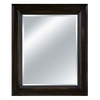 Imagination 30-in x 35-in Burnt Sienna Brown Rectangular Framed Mirror