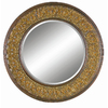 Imagination 40-in x 40-in Dark Gold Round Framed Mirror