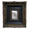 Imagination 28-in x 31-in Dark Gold Rectangular Framed Mirror