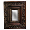 Imagination 26-in x 34-in Gold Patina Rectangular Framed Mirror
