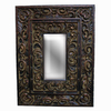 Imagination 26-in x 34-in Old Black Gold Rectangular Framed Mirror