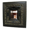 Imagination 29-in x 34-in Dark Gold Patina Rectangular Framed Mirror