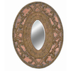 Imagination 26-in x 34-in Dark Gold Oval Framed Mirror