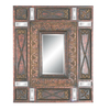Imagination 26-in x 34-in Antique Cherry Gold Rectangular Framed Mirror