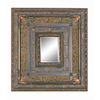 Imagination 31-in x 29-in Antique Cherry Rectangular Framed Mirror