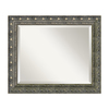 Amanti Art Barcelona 24.34-in x 20.34-in Champagne Beveled Rectangle Framed Wall Mirror