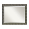 Amanti Art Barcelona 32.34-in x 26.34-in Champagne Beveled Rectangle Framed Wall Mirror