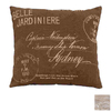 UMA Enterprises 16-in W x 16-in L Brown Square Accent Pillow