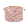 Colonial Mills 18-in W x 12-in H x 18-in D Tea Party Pink Fabric Basket