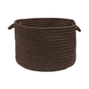 Colonial Mills 18-in W x 12-in H Brownstone Plastic Basket