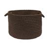 Colonial Mills 18-in W x 12-in H x 18-in D Brownstone Plastic Basket