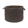 Colonial Mills 18-in W x 12-in H x 18-in D Slate Plastic Basket