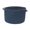 Colonial Mills 18-in W x 12-in H Blue Haze Plastic Basket