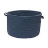 Colonial Mills 18-in W x 12-in H x 18-in D Blue Haze Plastic Basket
