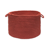 Colonial Mills 18-in W x 12-in H Terracotta Plastic Basket