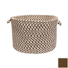 Colonial Mills 18-in W x 12-in H Bark Plastic Basket