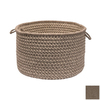 Colonial Mills 18-in W x 12-in H Latte Fabric Basket