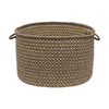 Colonial Mills 18-in W x 12-in H x 18-in D Caramel Fabric Basket