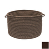 Colonial Mills 18-in W x 12-in H Cocoa Fabric Basket