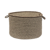 Colonial Mills 18-in W x 12-in H Espresso Fabric Basket
