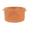 Colonial Mills 18-in W x 12-in H Tangerine Plastic Basket