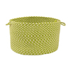 Colonial Mills 18-in W x 12-in H Lime Twist Plastic Basket