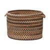 Colonial Mills 18-in W x 12-in H x 18-in D Cashew Fabric Basket