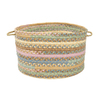 Colonial Mills 18-in W x 12-in H x 18-in D Dusty Shale Fabric Basket